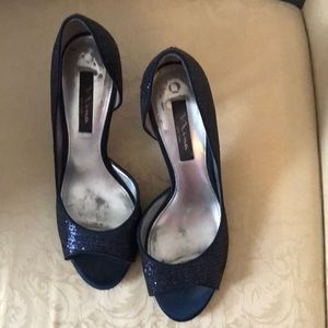 Comfortable cute blue dress shoes great for work